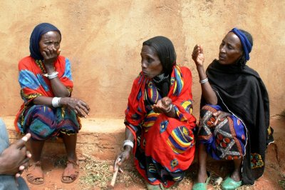 Leaders of  a women group making Aloe vera soap